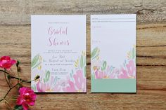 Bridal Shower invites with cute recipe cards for the new wife to be!