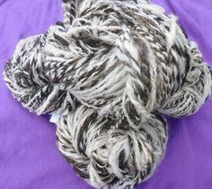 Hand spun home spun Jacob Sheep wool yarn by RebeccasWool on Etsy