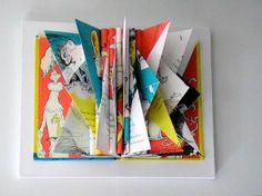 Better example of the other. Red Fish Blue Fish, One Fish Two Fish, Folded Book Art, Book Folding, Book Sculpture, Church Crafts, Handmade Books, Holiday Sales, Summer Art