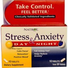 Natrol, Stress & Anxiety, Day & Nite, 10 Tablets Each, Diet Suplements 蛇