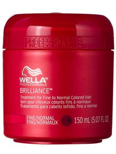 Wella Professionals Brilliance Treatment for Fine to Normal Colored Hair Review: Hair Care: allure.com