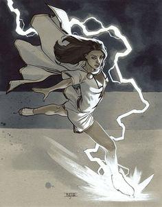 Mary Marvel by Mahmud Asrar * Comic Book Artists, Comic Book Characters, Comic Artist, Comic Character, Comic Books Art, Character Design, Shazam Dc Comics, Captain Marvel Shazam, Marvel Vs