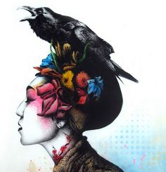 Illusion: Most of Fin DAC's artwork is done with single layered stencils, and when viewing just the sheets, it is pretty amazing to see the detailed cutouts. The artist also uses materials like spray paint and acrylic to color and compose each of his designs.     (Artwork © Fin DAC)    http://illusion.scene360.com/art/31254/large-scale-stencil-art/