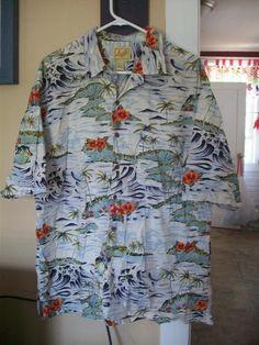 f605d580 Mens Hawaiian Shirt XL from Aloha by Voltage, Vintage short sleeve casual  Beach shirt,