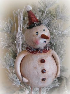paper clay snowman