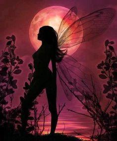 Fairy moonlight silhouette