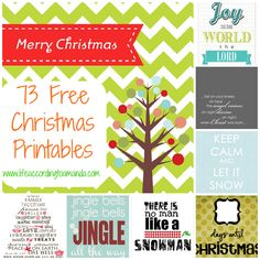 73 Free Christmas Printables
