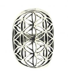 Silver Flower of Life Ring Symbol of Sacred Geometry arcadiajewellery.com.au Flower Of Life, Silver Flowers, Sacred Geometry, Symbols, Jewellery, Rings, Jewels, Schmuck, Ring