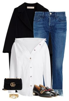 """""""Untitled #4050"""" by saskiasnow ❤ liked on Polyvore featuring Marni, 3x1 and Gucci"""