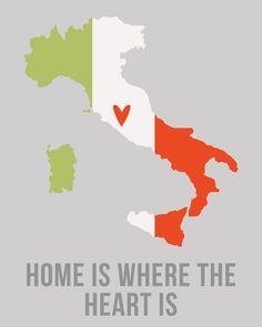Italy Home is Where the Heart is 8 x 10 inch by EinBierBitte, $19.90