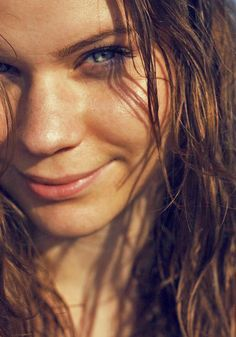 #brown #hair #wet #girl #beach #green #eyes #kat #erdelyi