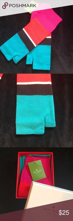 Kate Spade fingerless gloves New w tags! Colorful fingerless gloves. 100% wool kate spade Accessories Gloves & Mittens