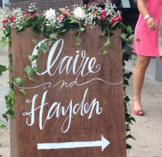 CUSTOM MADE Wooden Wedding Sign by InkandPenShop on Etsy, $135.00