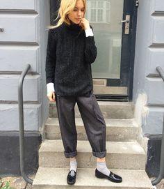 Style icon Pernille Teisbaek looks amazing in her ANINE BING knit ❥ www.aninebing.com #aninebing #aninebingknit #aninebinggirls #pernilleteisbaek