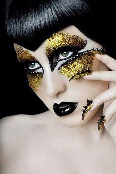 "make-up-is-an-art: "" Model/Mua - Ryo Love Eye Makeup, Makeup Brushes, Beauty Makeup, Make Up Looks, Art Visage, Extreme Makeup, Fantasy Make Up, Foto Fashion, Crazy Makeup"
