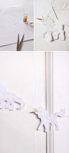 Printable Unicorn Garland