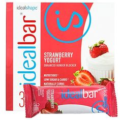 IdealBar Meal Replacement Snack Bar (Strawberry Yogurt) By IdealShape. Stop the Cravings. Feel Full…