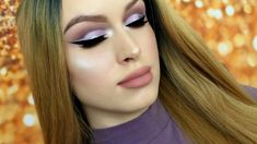 PURPLE CUT CREASE + DOUBLE WINGED SILVER GLITTER LINER // MAKEUP TUTORIAL – Makeup Project