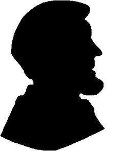 Abraham Lincoln Profile   Printable abraham lincoln silhouette - Firm Profile