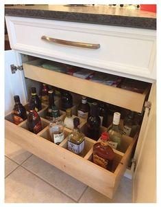 Cafe Bar, Liquor Bar, Liquor Bottles, Alcohol Bottles, Liquor Storage, Whiskey Room, Coffee Bar Home, Built In Bar, Home Bar Designs