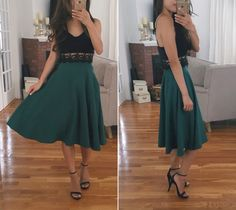 modcloth just this sway A line skirt_how to style