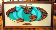 Mid-Century Witco World Map Wall Hanging