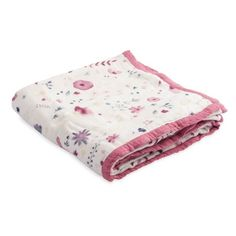 Infant Little Unicorn Deluxe Muslin Quilt ($60) ❤ liked on Polyvore featuring fairy garden