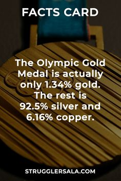 Olympic gold - All the Interesting Information You're Wondering Here Wierd Facts, Wow Facts, Intresting Facts, Real Facts, Wtf Fun Facts, True Facts, Funny Facts, Interesting Science Facts, Interesting Facts About World