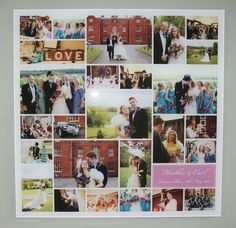 Acrylic framed Wedding Collage from £295