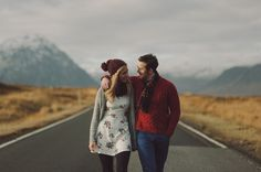 Crazy stunning, cinematic engagement session in Scotland. Those tones are out of control good. // Kitchener Photography