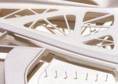 Zaha Haddid: (3D printed modell) Guggenheim Museum, Taichung, Taiwan