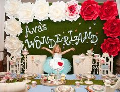 "Alice in Wonderland / Birthday ""Ava's Wonderland "" 