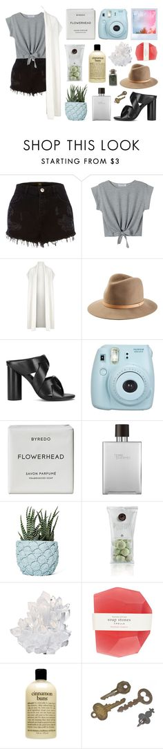 """""""untitled"""" by jet-black-heart555 ❤ liked on Polyvore featuring River Island, WithChic, DKNY, rag & bone, Senso, Fujifilm, Byredo, Hermès, Chen Chen & Kai Williams and McCoy Design"""