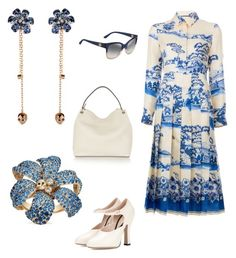 """Gucci, blue and white"" by dtlpinn on Polyvore featuring Gucci"