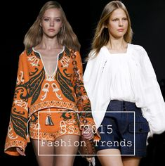 Spring/ Summer 2015 Fashion Trends  #trends #fashiontrends