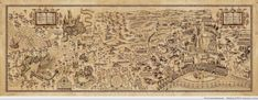 High resolution Wizarding World of Harry Potter map....WANT THIS PLEASE!!!!