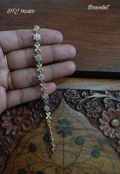 Saved by radha reddy garisa Bracelets Design, Gold Bangles Design, Gold Jewellery Design, Gold Jewelry, Jewelery, Jewelry Necklaces, Swarovski Jewelry, Diamond Bracelets, Silver Bracelets