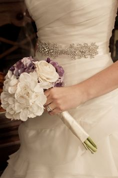 lilac and white silk #wedding flowers