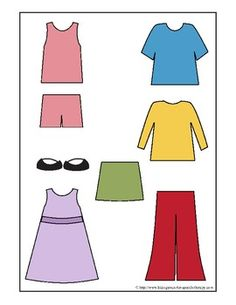 Vocabulary Printables - Let's Get Dressed - File Folder Game  - Pinned by @PediaStaff – Please Visit ht.ly/63sNtfor all our pediatric therapy pins
