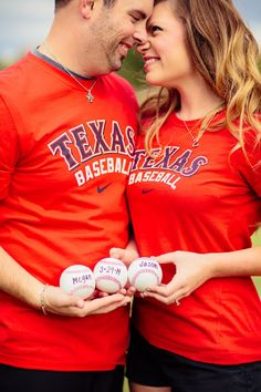 Baseball Engagement Texas Rangers Baseball Photos by POPography.org  Sara only you wear your card red this would be an awesome engagement pic