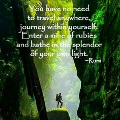 Do you think Rumi might have been an introvert?   LOL