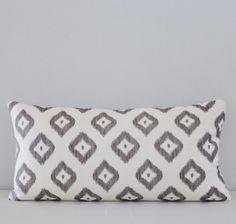 Bali Diamond Ikat Designer Lumbar Pillow by IndigoBlissBoutique