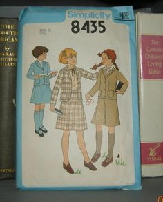 79ee45a14 Items similar to Vintage Simplicity 1970s Girl's School Uniform Outfit  Pattern 8435-Size 10 on Etsy