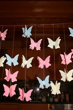 Butterfly Decoration- same idea as the table thing but for backdrop if we need it?