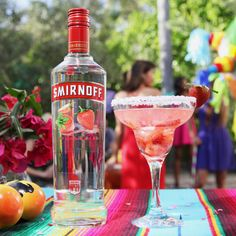 THE STRAWBERRY VODKARITA. Just mix 1 cup Smirnoff Strawberry + .5 cup Triple Sec, Limeade, Strawberries, and enjoy with 8 of your friends!   Because, like piñatas, some Cinco de Mayo traditions were meant to be deliciously broken.