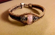 Triple braided bracelet Horse Hair Jewelry, Bespoke Jewellery, Braided Bracelets, Beaded Jewelry, Braids, Jewelry Making, Pendants, Horses, Pets