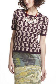 #anthropologie #Fox Intarsia Sweater #conversational prints