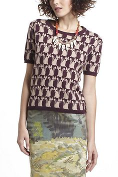 #anthropologie #Fox Intarsia Sweater #conversational prints