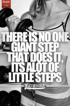 It isn't just one giant step, but a lot of little steps!  See a Total Body Transformation in just 12 weeks!  #totalbody #transformation