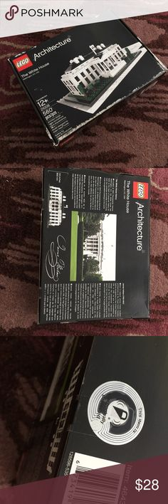 LEGOS 🎁 BRAND NEW IN BOX- UNOPENED Brand new in box, factory sealed.  The box is a little damaged as shown. Lego Architecture series The White House 560 pieces   Toy Washington DC Lego Jackets & Coats